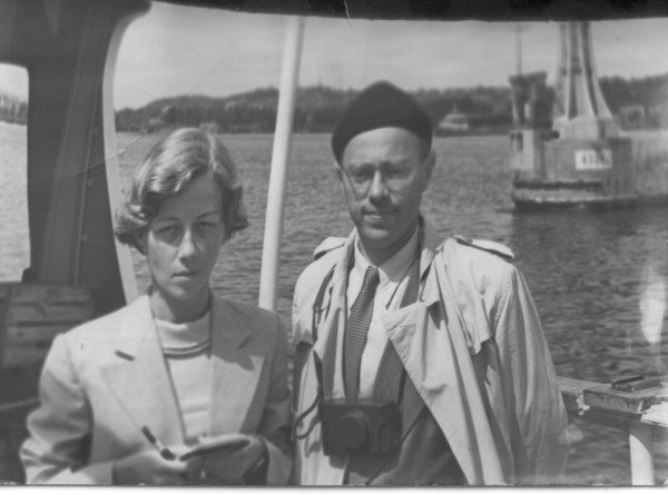 1956 on a trip to Scandinavia